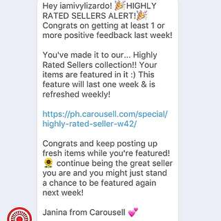 Featured Again✨ Thank you Carousell🌟⭐️🌟⭐️🌟