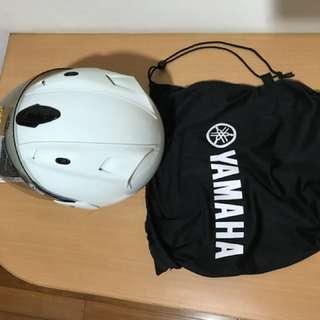 Yamaha藍白4/3潮全帽