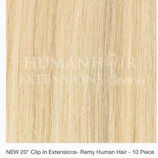 Triple weft 10 piece clip in hair extensions