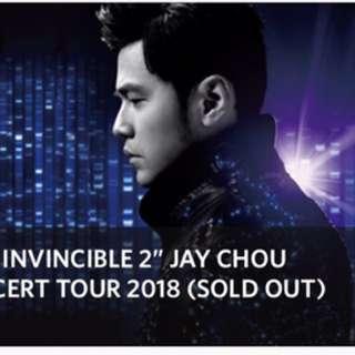 Jay Chou 2018 Cat 1 Tickets (Last pair)!