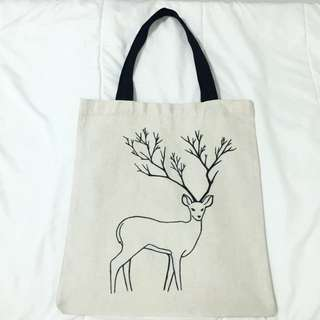 ❗️REDUCED❗️Deer Handmade Canvas Bag