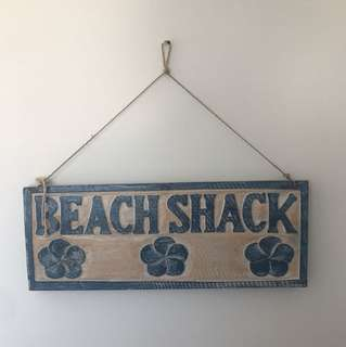 Beach Shack sign
