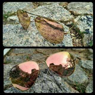 Ray Ban Aviator Rose Gold (Clearence Stok)