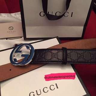 Black Guccissima belt