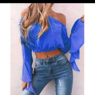 BRAND NEW OFF SHOULDER IN GORGEOUS BLUE