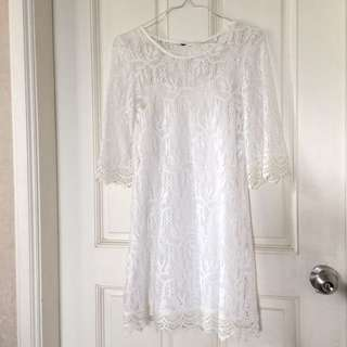 H&M White Lace Dress - size XS