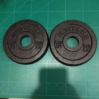 Used Kettler Cast Iron Weight Plates