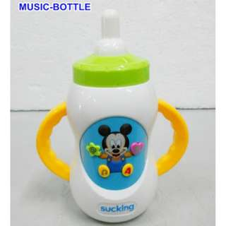 TOY MUSIC MILK BOTTLE WITH SOUND EFFECT AND MUSIC