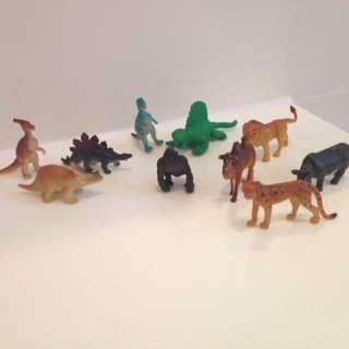 (Free postage) Miniature Dinosaurs Animals