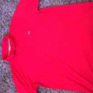 Lacoste polo SizeL Red
