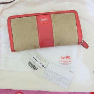 Coach signature orange wallet