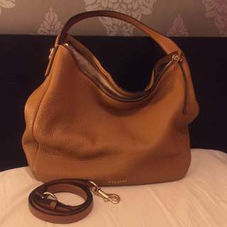 COACH beautiful camel leather hobo bag