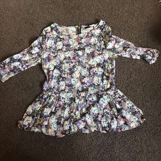 Forever New size 6 peplum top
