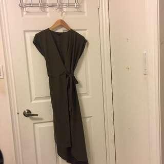 Topshop Asymmetrical Wrap Dress sz2