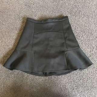 Black mini skirt size 6