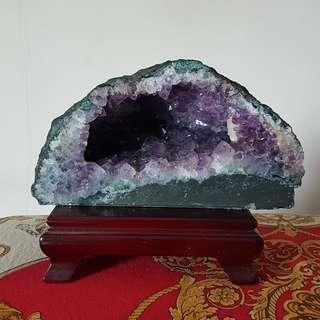 ***Amethyst Geode & Snow Quartz Crystal