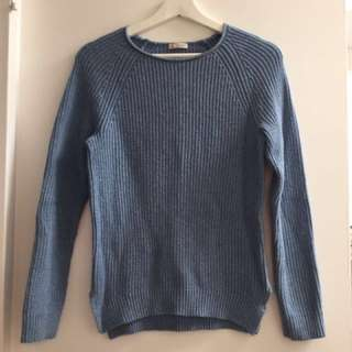 Baby blue wool sweat