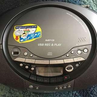 SONY mp3 usb cd-r/rw rec&play