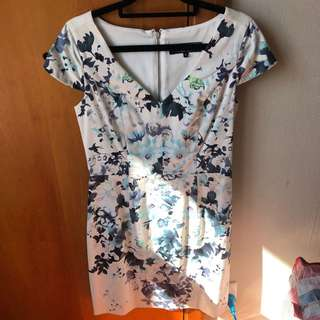 Oliver Black Floral Dress (Size 8)