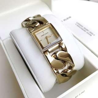 Anne Klein Watch * 2664CHGB Lux Square Dial Gold Steel Chain LinkAnne Klein Watch * 2664CHGB Lux Square Dial Gold Steel Chain Link