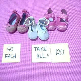 Babies shoes 3 pairs