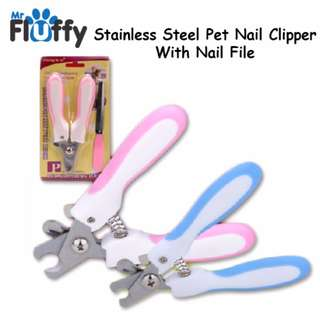 Stainless Steel Pet Nail Clipper With Nail File