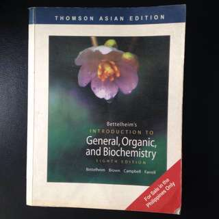 General, Organic, and Biochemistry Book