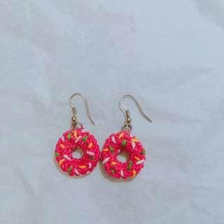 Donut earring handmade  ❤️