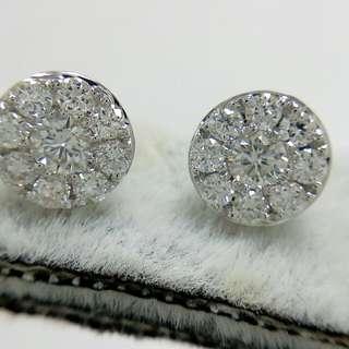 天然鑽石耳環