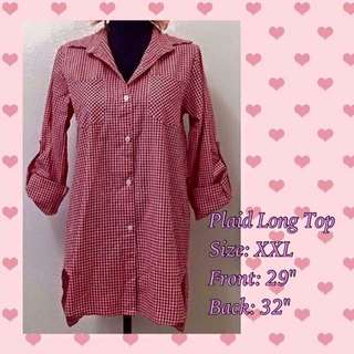 Plaid long top