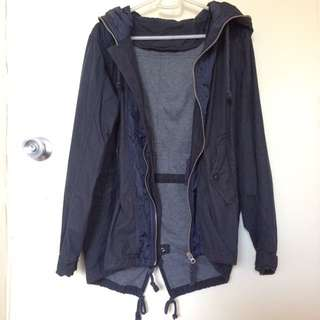 Black/Navy Blue Raincoat or Hooded Jacket
