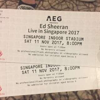 ED Sheeran Day 1 CAT 1 Tickets