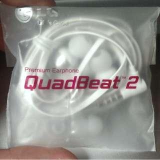 QuadBeat 2 LE530 原裝耳筒 耳機 Headphone 原裝扁線耳筒白色