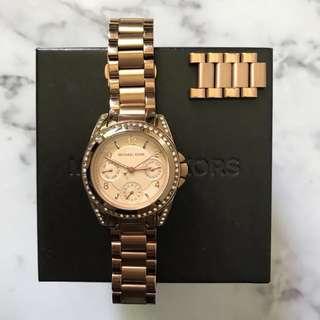 Micheal Kors - Women's chronograph mini Blair rose gold watch