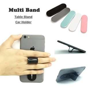Multiband mobile grip and stand