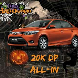 Holloween special promo from Toyota Vios lowest dp