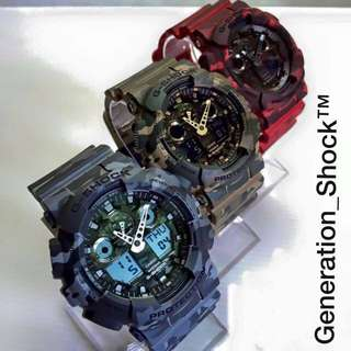 BEST⌚️SELLING GSHOCK: 1-YEAR OFFICIAL WARRANTY: BRAND NEW IN BOX Originally Authentic G-SHOCK Resistant in 3 ARMY MILITARY RAINFOREST COLOURS Camouflage Collections in Absolutely Toughness Best For Most Hardcore Rough Users & Unisex