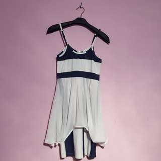 two-look striped bodycon dress