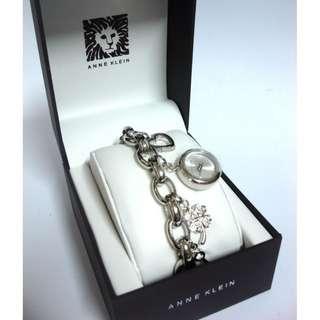 Anne Klein Watch * 7605CHRM Silver Tone Swarovski Charm