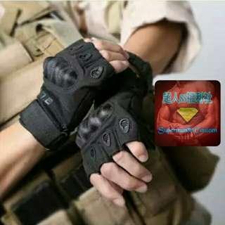 CS黑鷹護甲手套-半指 CQB戰術手套防護手套半指手套保護護具生存遊戲配備特勤軍警用品登山攀岩重機必備騎士手套運動手套