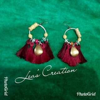 Bohemian style tassel earrings