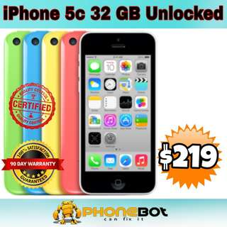 iPhone 5c 32 Gb network unlocked available in different colors