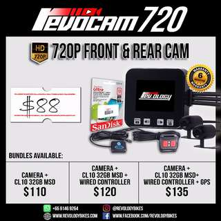 *BIKE CAMERA* Revocam 720 HD Motorcycle Front & Rear Camera