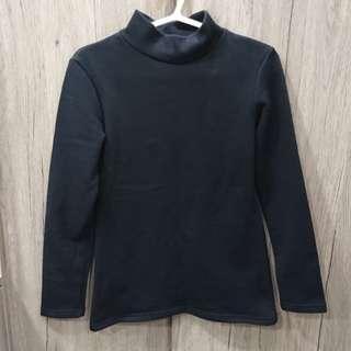 🚚 🌬黑舖棉短領內搭衣-內刷毛超保暖🌡