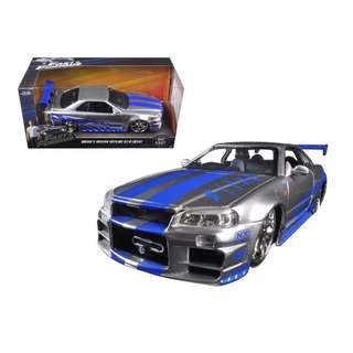 Colector Item Diecast Brian's Nissan Skyline GT-R R34 Jada Style 1:24
