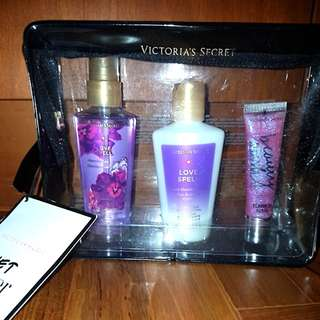 Victoria's Secret mist, lotion, gloss