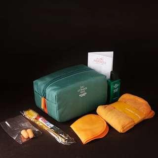 法國航空旅行套裝 Hermes 洗漱睡眠化妝袋洗漱包6件套
