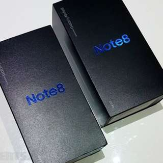 New & Sealed Samsung Galaxy Note 8 SME Set Midnight Black