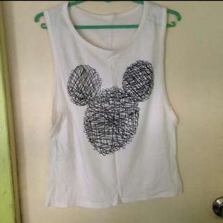 Mickey mouse muscle tee