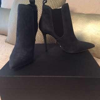 Tony Bianco midnight blue suede heels